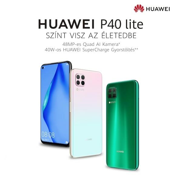 Notebook GSM - Huawei P40 Lite Mobiltelefon, Kártyafüggetlen, Dual Sim