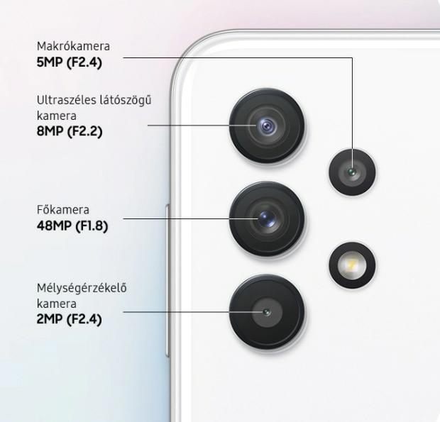 Notebook GSM - Samsung Galaxy A32 Mobiltelefon, Kártyafüggetlen, Dual SIM